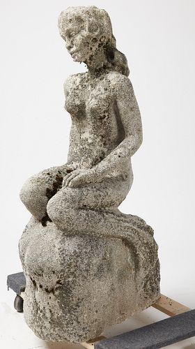 Cast Stone Mermaid