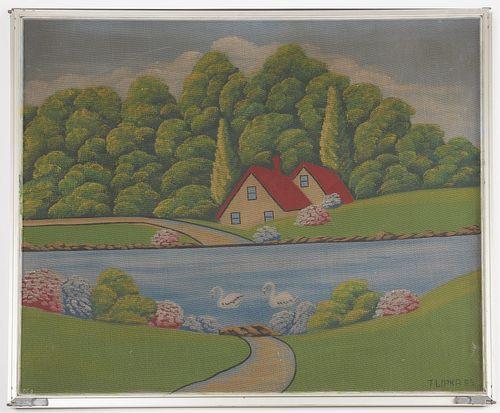 Tom Lipka- Painted Window Screen