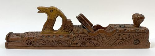 Incredible Carved Fantasy Woodworking Plane
