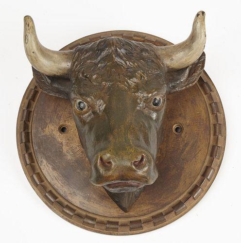 Cast Iron Bull's Head Butcher Trade Sign