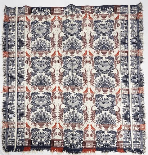 Fine 19th Century Woven Coverlet