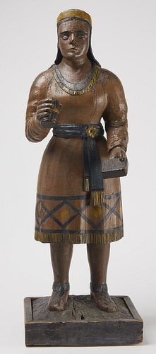 Fine 19th Century Cigar Store Indian Squaw