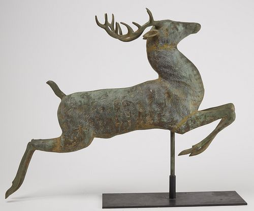 Fine Leaping Stag Weathervane