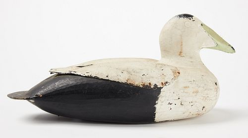 Eider Decoy - with carved wing detail