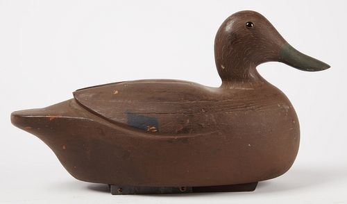 Duck Decoy with carved wing detail