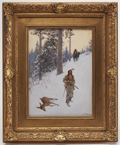 Henry Farny - Native American Hunter