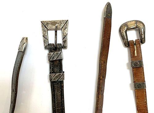 3 Native American Belts