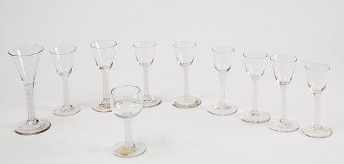 Rare Set 10 Early Glass Twists