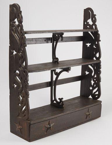 Folk Art Carved Shelf