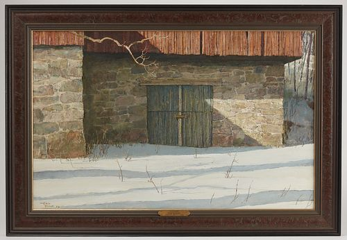 """""""Old Barn"""" signed Eric Sloane (1910-1985)"""