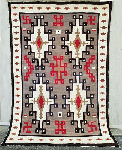 Large Early Crystal Trading Post Navajo rug
