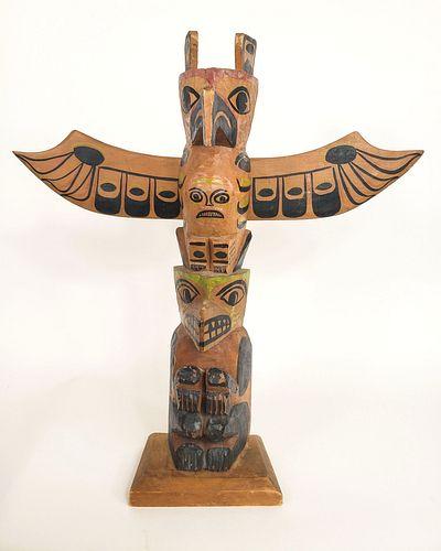 Gabe Moody Signed Vancouver Island Totem Pole