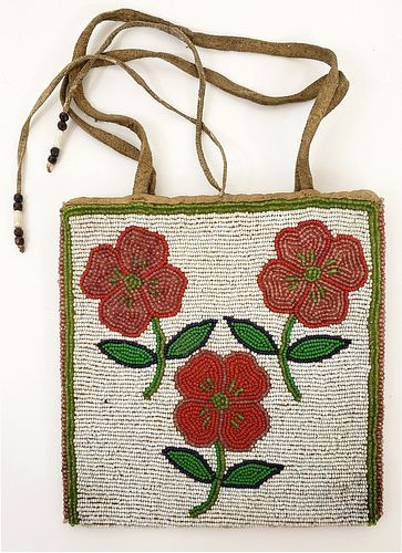 Native Northern Plains or Plateau Beaded Bag.