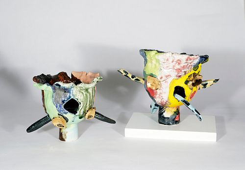 PAUL MALONEY, Gold Flower and Leopard Sticks