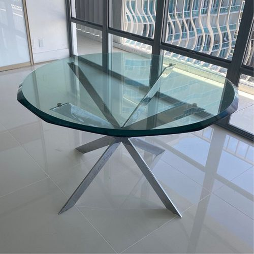 Mid Century Modern Couture Style Chrome Table