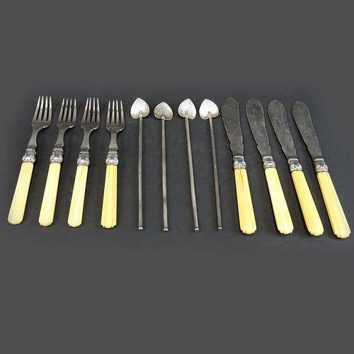 (12) Vintage Silverplate and Sterling Tableware