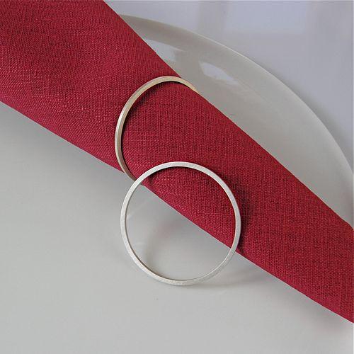 Fine Napkin Ring Set - CIRCLE