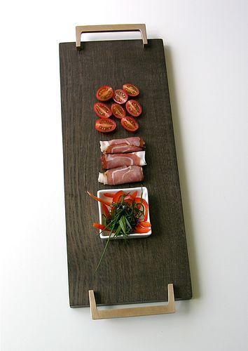 Moor-oak & bronze Tray or Sushi Tray