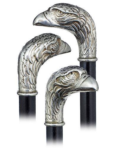 Silver Eagle Head Cane