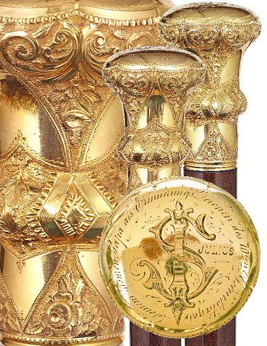 Spectacular Gold American Presentation Cane