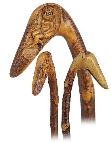 Folk Art Mildly Erotic Cane