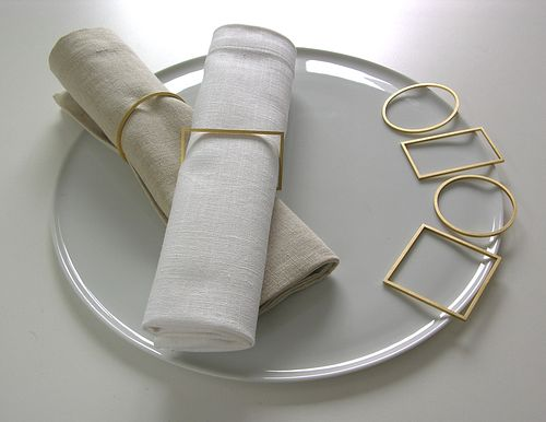 Gold-Plated Silver Napkin Ring Set