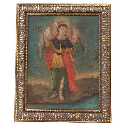 SAN MIGUEL ARCÁNGEL, Mexico, 19th century, Oil on canvas