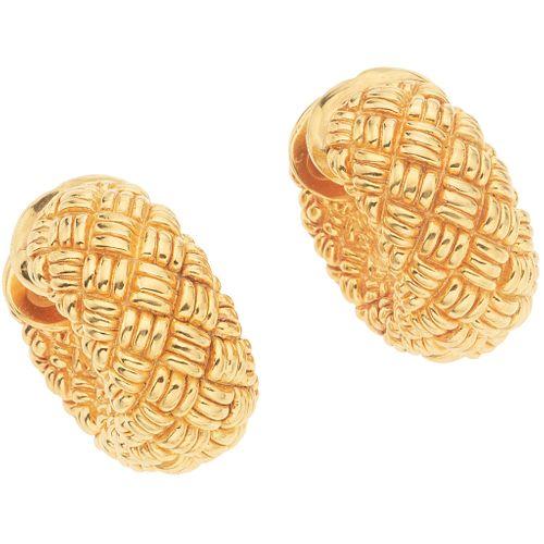 HOOP EARRINGS. 18K YELLOW GOLD. CHIMENTO