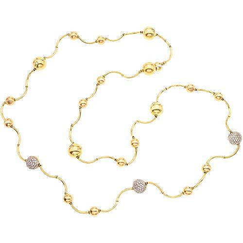DIAMONDS NECKLACE. 18K YELLOW GOLD. MANFREDI