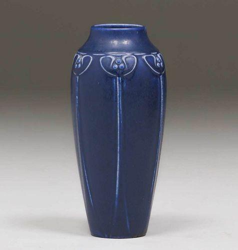 Rookwood #2142 Matte Blue Vase 1925