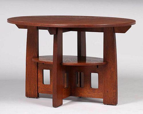 Limbert Double Oval Cutout Table c1910
