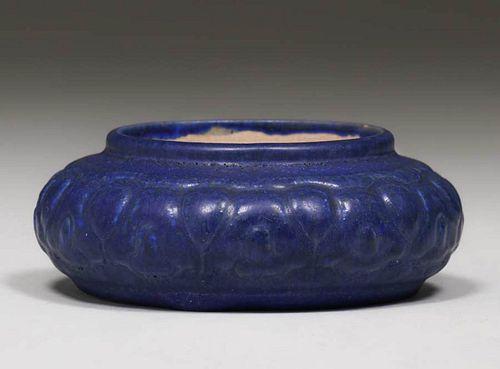 Fulper Pottery Matte Blue Bowl c1910