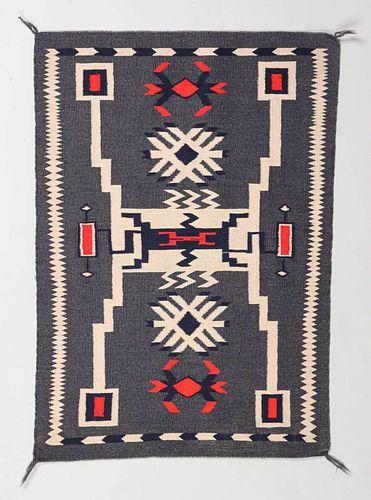 Navajo JB Moore Storm Pattern Rug c1940s