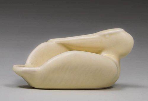 Rookwood Matte White Pelican Dish 1933