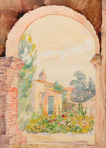 Samuel Gideon San Juan Capistrano Watercolor c1910