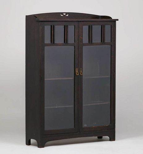 Grand Rapids Two-Door Bookcase c1910