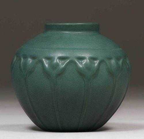 Van Briggle #829 Matte Green Vase 1915