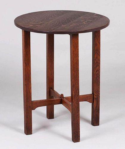 """Gustav Stickley 24""""d Lamp Table c1910-1912"""