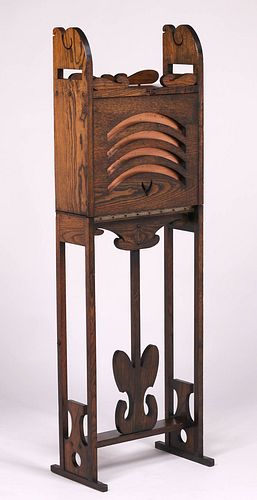 Jamestown Furniture Co Fold-Out Cellarette c1910