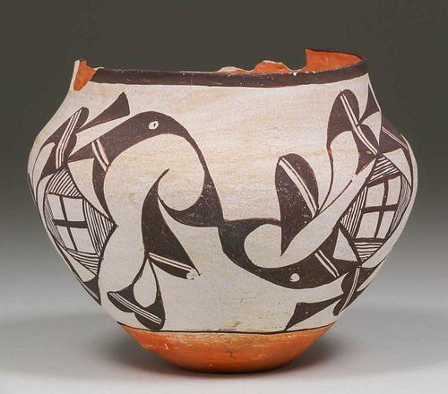 ACOMA POLYCHROME OLLA THUNDERBIRD DESIGN: Possibly by