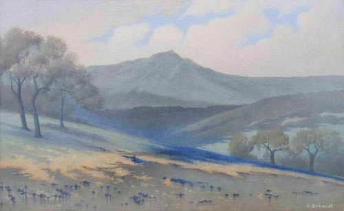 Rookwood Vellum Plaque Mt Tamalpais Carl Schmidt 1916