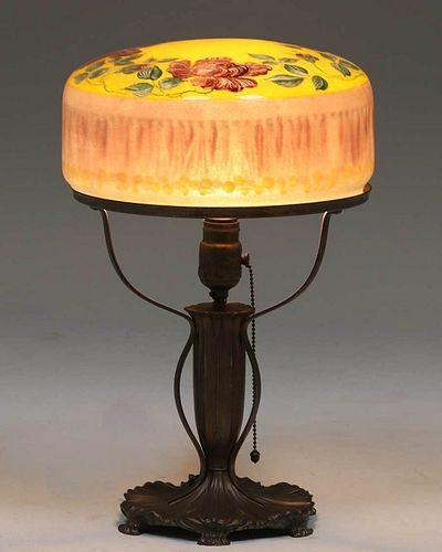 Pairpoint Domed Glass Table Lamp c1910s