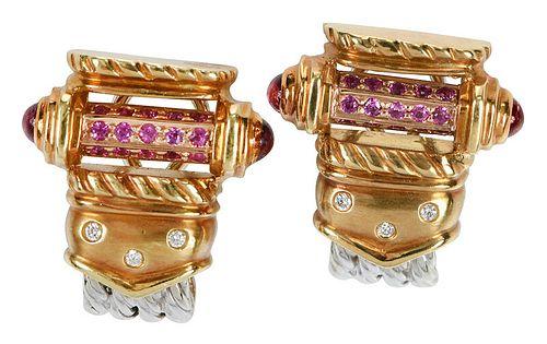 Orlanda Olsen 18kt. Gemstone Earrings