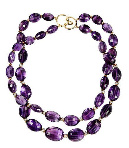 14kt. Diamond and Gemstone Necklace