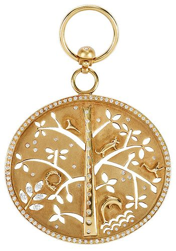 Temple St. Clair 18kt. Tree of Life Pendant