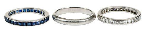 Three Platinum Rings