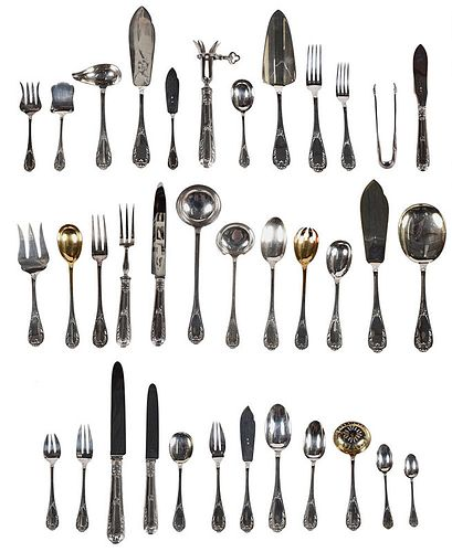Set of French Silver Flatware, 173 Pieces