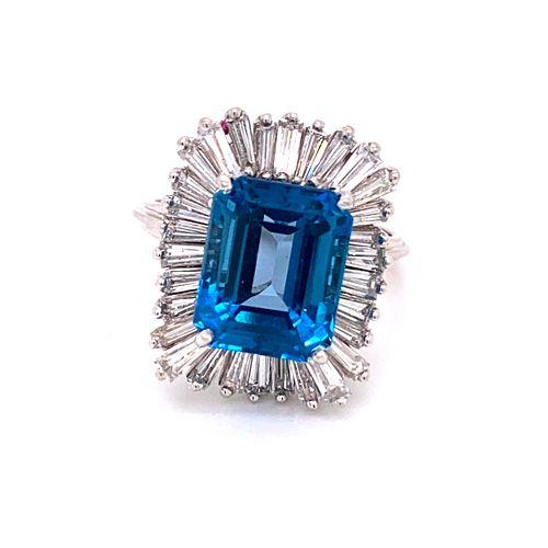14K Diamond Topaz 70Õ RingÊ
