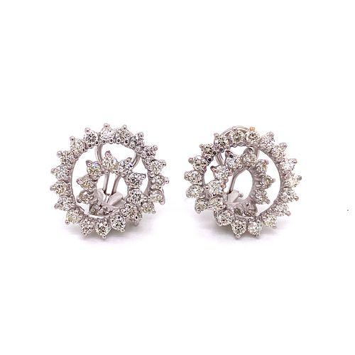 14k Diamond Snail EarringsÊ