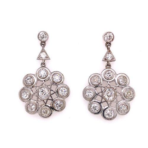 Platinum Diamond Rosetta EarringsÊ